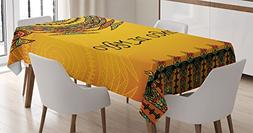 Ambesonne Mexican Decorations Tablecloth by, 5th May Celebra