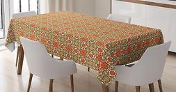 Middle Eastern Tablecloth by Ambesonne 3 Sizes Rectangular T