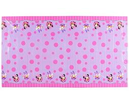 Minnie Mouse Bowtique Plastic Table Cover, 54 in x 96 in, Pa
