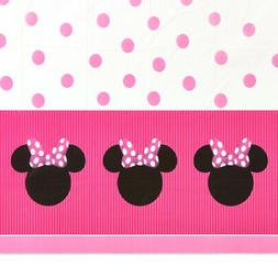 MINNIE MOUSE PLASTIC TABLE COVER ~ Birthday Party Supplies D