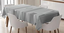 Modern Decor Tablecloth by Ambesonne, Futuristic Striped Web
