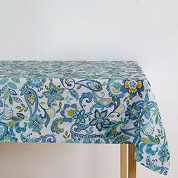 Eforgift Modern Exotic Swirl Flower Outdoor Table Cover Poly