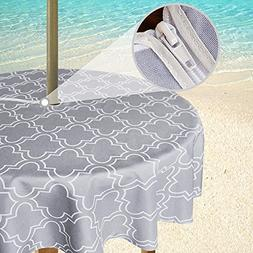 Eforgift Modern Moroccan Quatrefoil Patio Umbrella Tableclot