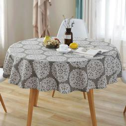 Modern Nordic Style Gray ​Floral Tablecloth Non-Slip Cotto