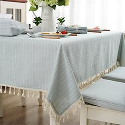 Modern Simple Cotton Blue And White Striped Tablecloth
