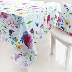ColorBird Modern Style Washable Tablecloth Colorful Floral P