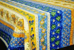 LE CLUNY, MONACO, BLUE, FRENCH PROVENCE COATED COTTON TABLEC