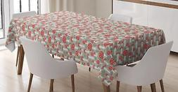 Mushroom Tablecloth Ambesonne 3 Sizes Rectangular Table Cove