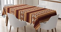 Native American Decor Tablecloth by Ambesonne, Native Ethnic