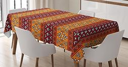 Native American Tablecloth by Ambesonne, Maya Inspired Horiz