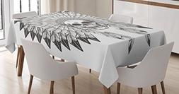 Native American Tablecloth by Ambesonne, Ethnic Theme Apache