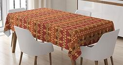 Native American Tablecloth by Ambesonne, Ethnic Style Cultur