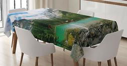 Nature Tablecloth Canada Ohara Lake Wiev Rectangular Table C