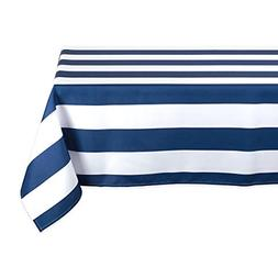 "DII Nautical Blue Cabana Stripe Outdoor Tablecloth, 60x84"","