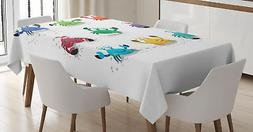 Nautical Tablecloth Ambesonne 3 Sizes Rectangular Table Cove