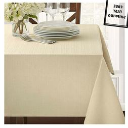 New Dining Holiday Textured Fabric Tablecloth Flax House Dec