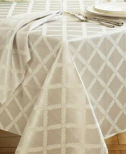 New Lenox Laurel Leaf Tablecloth in Ivory, 70 x 122 in