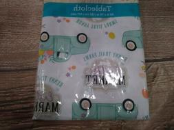 NEW! Rectangular Vinyl TABLECLOTH~ VINTAGE PICKUP TRUCK - Fl