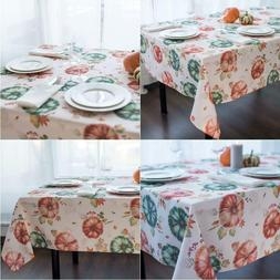 Non-Iron Stain Resistant Thanksgiving Table Cloth – Fall L