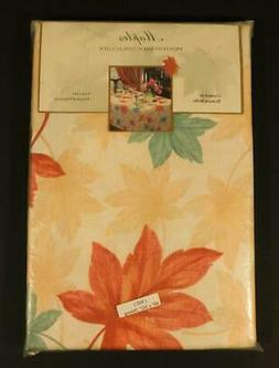 """NOS Benson Mills """"MAPLES"""" AUTUMN LEAVES Tablecloth ~ 60"""" x 1"""