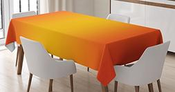 Ambesonne Ombre Tablecloth, Tropical Sunset Inspired Summer