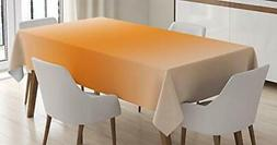 Ambesonne Ombre Tablecloth, Scorching Desert Sunny Hot Summe