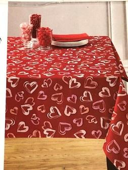 Benson Mills Open Hearts  Red & Pink  Valentine  Polyester T