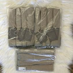 Coyuchi Organic Linen Color Border 4 Pack Pewter Silver Gray