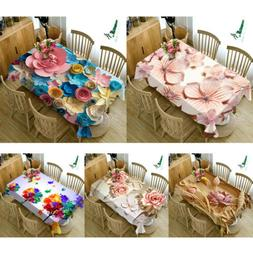 Originality 3D FLOWER Table cloth 5 Sizes dustproof Tea Tabl