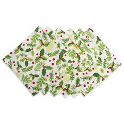 DII Oversized 20x20 Cotton Napkins, Pack of 6, Boughs of Hol