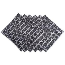 """DII Oversized 20x20"""" Cotton Napkin, Pack of 6, Black and Whi"""