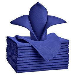VEEYOO Oversized 17x17 Solid Polyester Cloth Napkins for Wed