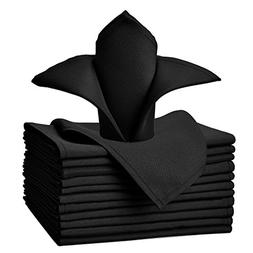 VEEYOO Oversized 20x20 Solid Polyester Cloth Napkins for Wed