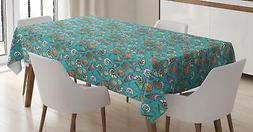 Oyster Tablecloth Ambesonne 3 Sizes Rectangular Table Cover