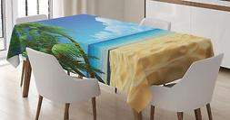 Palm Beach Tablecloth Ambesonne 3 Sizes Rectangular Table Co