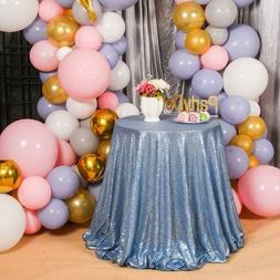 PartyDelight Sequin Tablecloth, Table Topper, Tree Skirt, Ro
