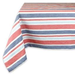 DII Patriotic Stripe Tablecloth