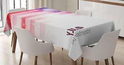 Patriotic Tablecloth Ambesonne 3 Sizes Rectangular Table Cov