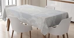 Pearls Tablecloth by Ambesonne, Circles Lace Doily Pattern M