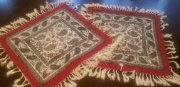 Persian Ghalamkar Hand-printed Tapestry, Washable Cotton Tab
