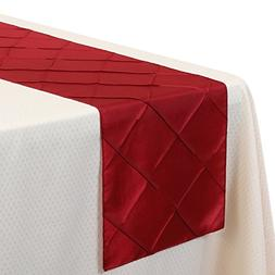VEEYOO 5 Pieces 12x108 Inch Pintuck Table Runner Cloth Cover