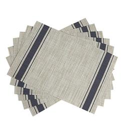 SiCoHome Placemats Set of 6,Soft Woven Vinyl Placemats for H