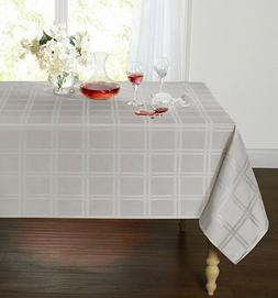 Plaid & Tartan Stain Resistant & Spill-Proof Fabric Tableclo