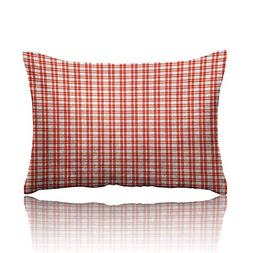 homehot Plaid Tablecloth Pillowcase Colored and Checkered Co