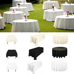 Plain Polyester Table Cloth Cover Banquet Anniversary Weddin