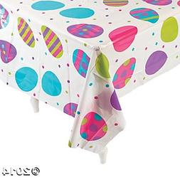Plastic Easter Egg Print Tablecloth