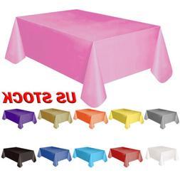 Plastic Table Cover Cloth Wipe Clean Party Tablecloth Large