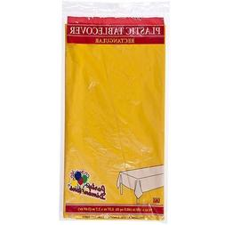 Plastic Party Tablecloths - Disposable, Rectangular Tablecov