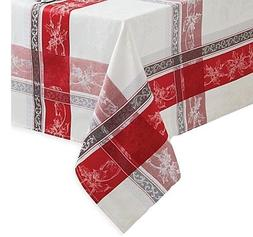 Benson Mills Poinsettia Plaid 52-Inch x 52-Inch Oblong Table