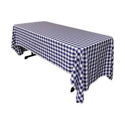polyester checkered 60 by 120 inch rectangular